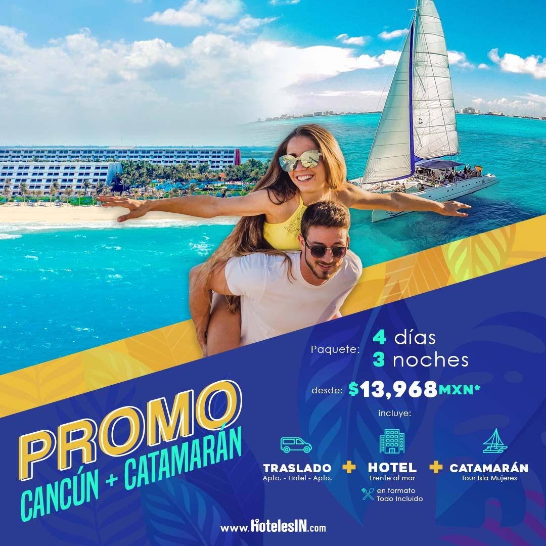 Cancún + Catamarán